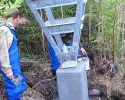 Восстановление и усиление фундамента башмака опоры ЛЭП