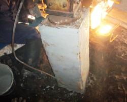 Восстановление, усиление и гидроизоляция фундамента башмака опоры радиовышки