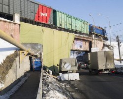 Произведено усиление железнодорожного моста