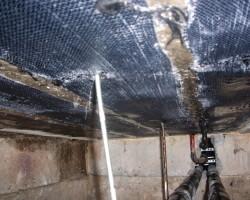 Усиление части плиты перекрытия