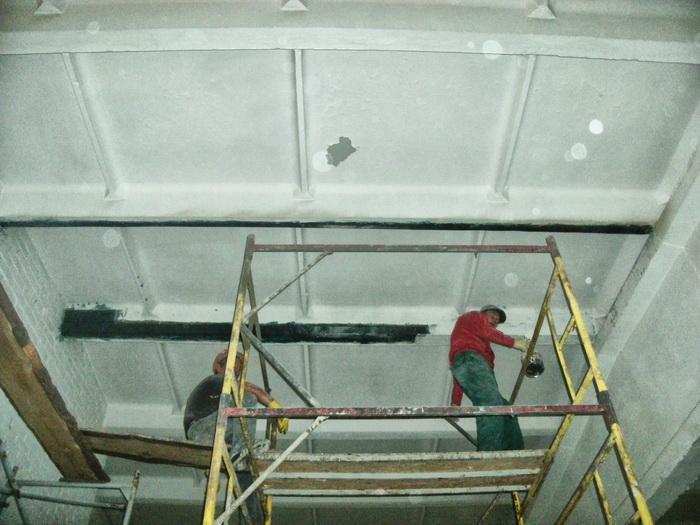 Усиление ребер плит перекрытия цеха